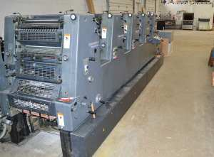 Heidelberg five color from the delivery end