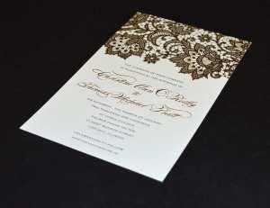 Foil invitation