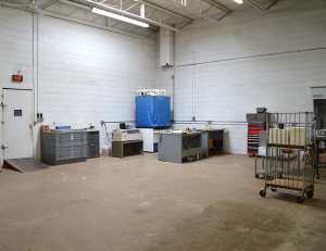 The offset plate making area.