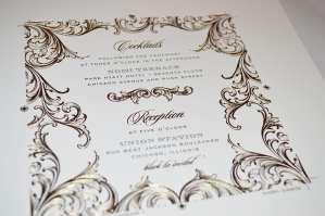 Foil and letterpress press sheet