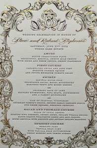 Letterpress and foil invitation