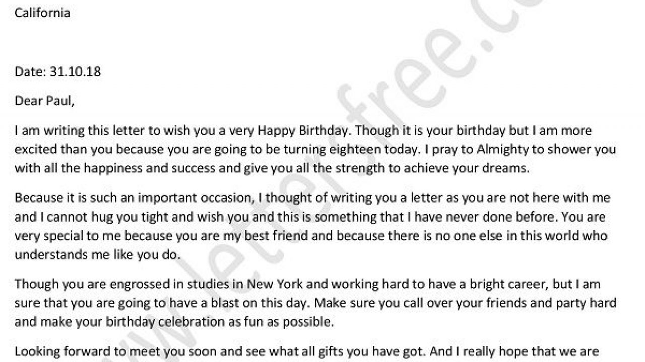 letter to your best friend on his birthday