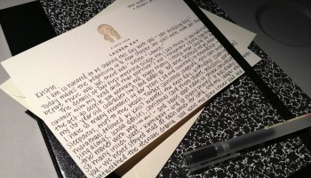 A letter to the bride on her wedding day