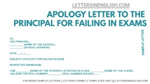 sample apology letter for poor performance in exam, letter asking apology for failing exam format, apology letter for failing in exam