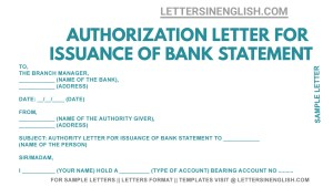 sample authorization letter for bank statement request, authorization letter to bank to get the bank statement , bank statement authority letter format, bank statement authorization letter