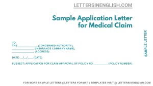 letter to the health insurance company for claim approval sample letter for health insurance claim approval
