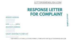 response to customer complaint letter example, reply to complaint letter template, response to complaint letter sample