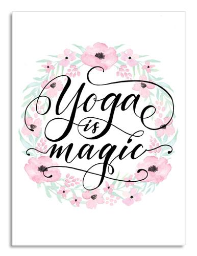 Idée cadeau anniversaire femme passionnée de yoga: Affiche, calligraphie et déco florale
