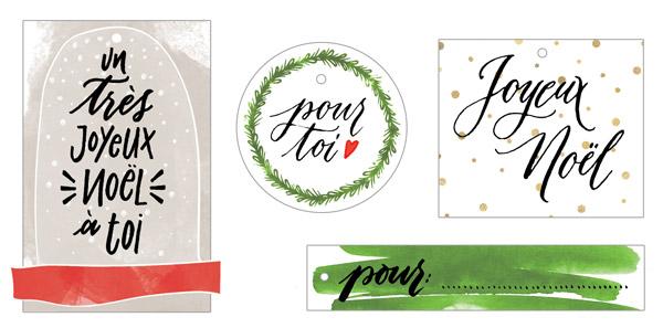 Étiquettes prêtes à être imprimées pour vos paquets | Cadeau de Noel | Letters Love Life