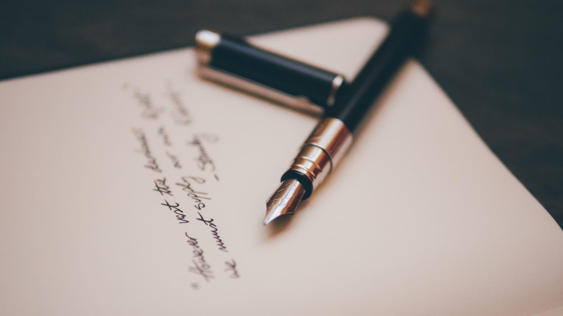 Journaling #22 – Een brief