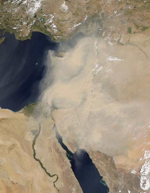 Epic sandstorm. Photo courtesy of NASA.
