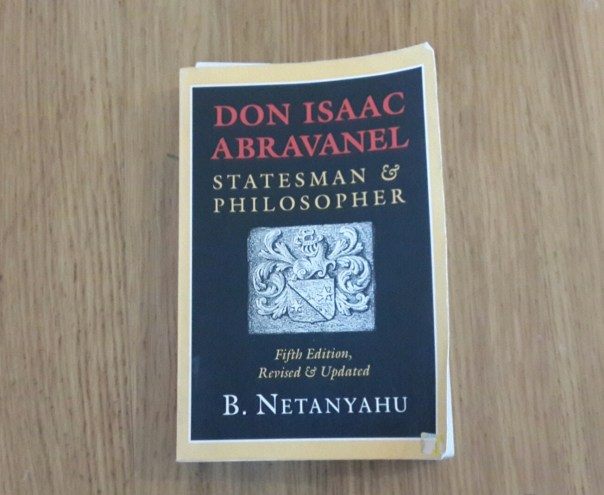 Photo of book: Don Isaac Abravanel, Statesman & Philospher, by B. Netanyahu
