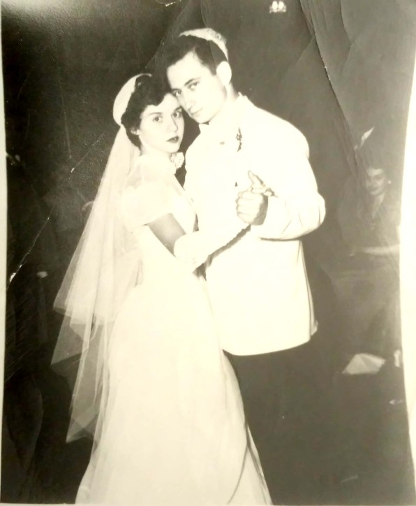photo of Alvin and Betty Shames on their wedding day