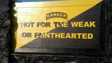 Sign at entrance to US Army Ranger Schoo