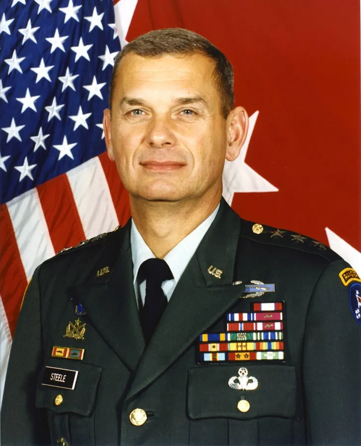 Mike Steele - 82nd Airborne Division Commander. He served with my father in Vietnam.