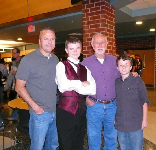 The boys with Granddaddy Byrd from several years ago.