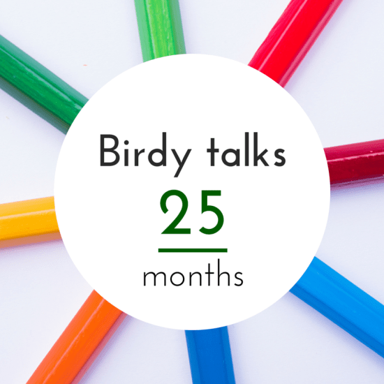 Birdy's language progress at the age of 25 months