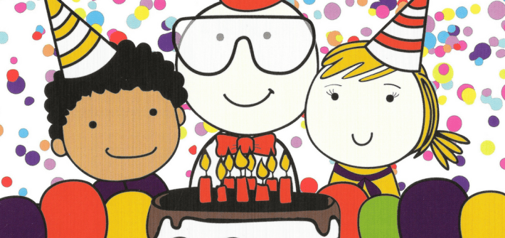 Kids at Work - birthday invitation