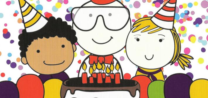 Kids at Work - birthday invitation