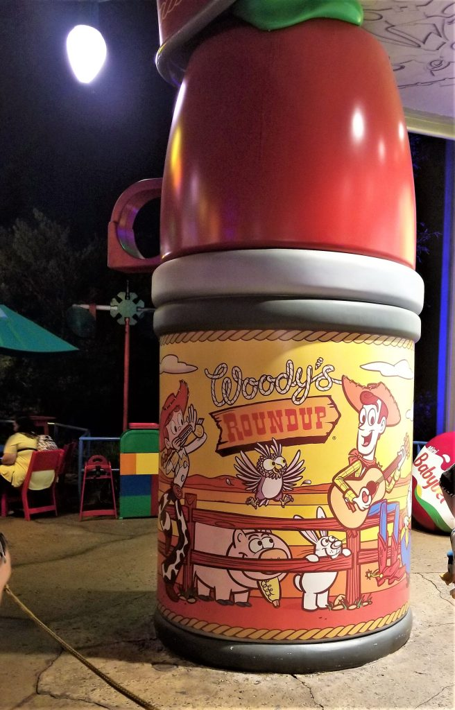 woody's lunchbox thermos at toy story land
