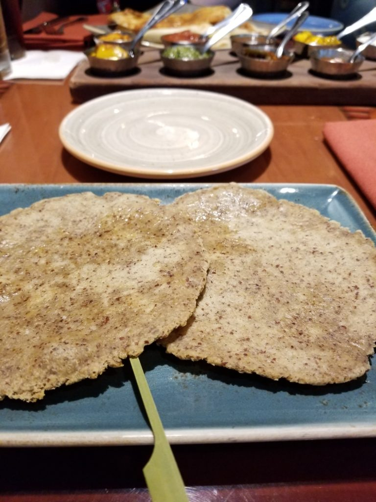 gluten free naan at sanaa at disney world