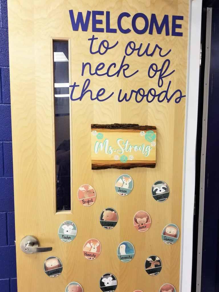 sissy's classroom door