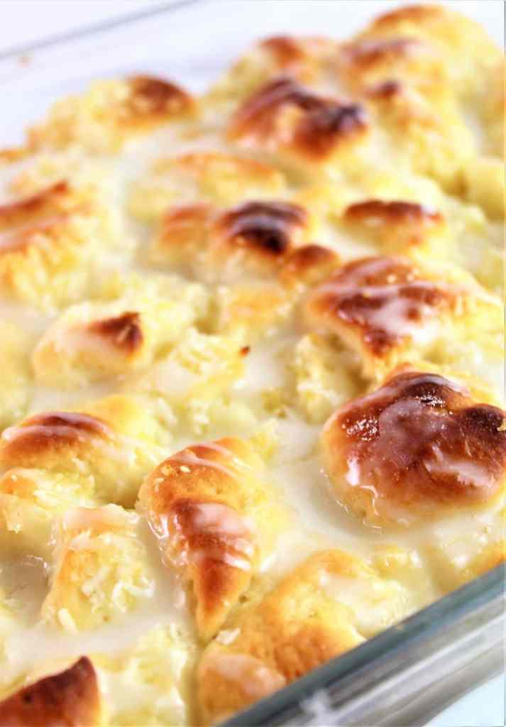 pan of pineapple bread