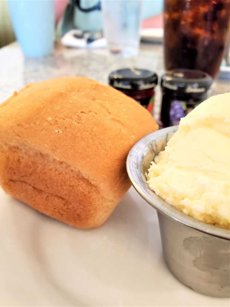 gluten free roll with butter at grand floridian
