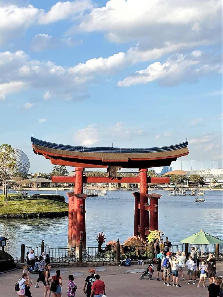 japanese torii gate at epcot