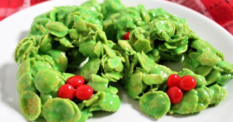 Gluten Free Cornflake Wreaths