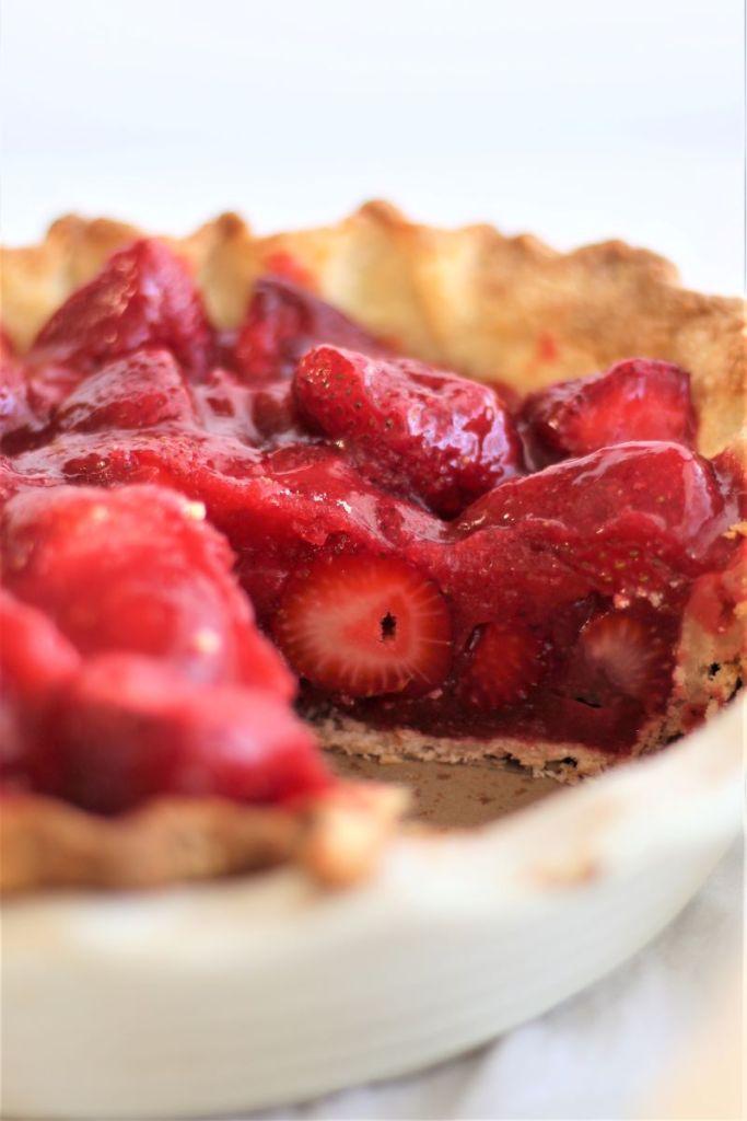 whole strawberry pie