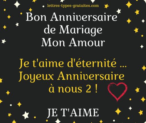 messages joyeux anniversaire de mariage