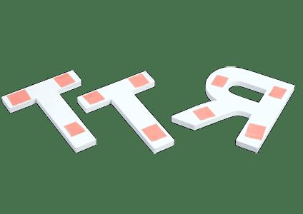 Techniques de poses Lettres découpées options fixations adhésif double face
