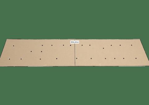 Technique de pose options  Gabarit en carton perçage pour entretoises