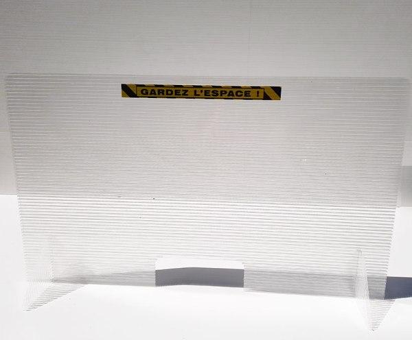 hygiaphone alvéolaire translucide 10mm