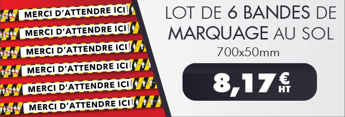 Lot 6 bandes marquage sol