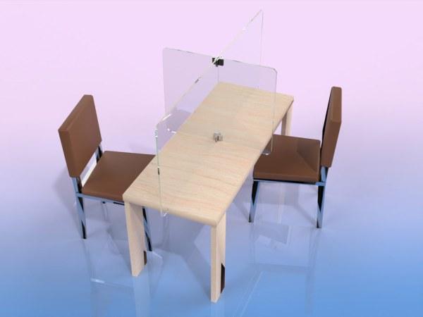 Séparateur de table 4 places