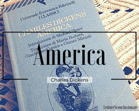 la copertina di America, il saggio di viaggio di Dickens