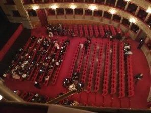 La platea del Teatro Argentina a Roma