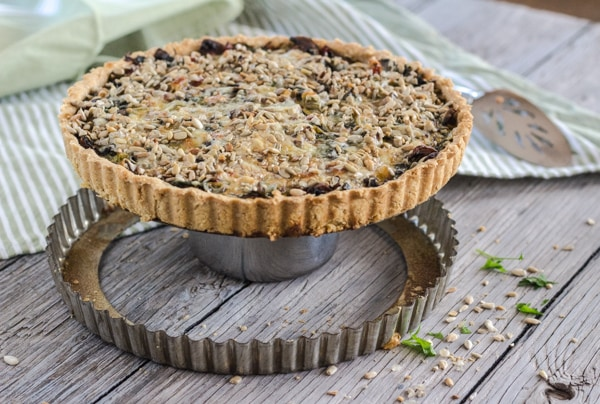 Mushroom, Chard, and Cheddar Tart | Letty's Kitchen