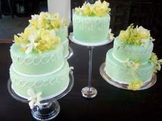 Lemon Raspberry Cake and Chocolate Truffle Cakes, A Wedding Cake Made with Love