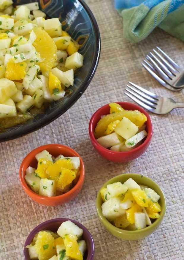 Jicama Fruit Salad with Cilantro and Lime