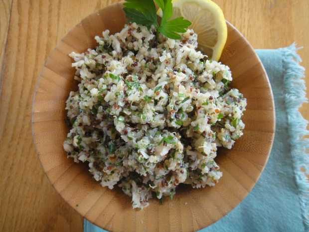 Parsley Quinoa and Brown Rice Pilaf