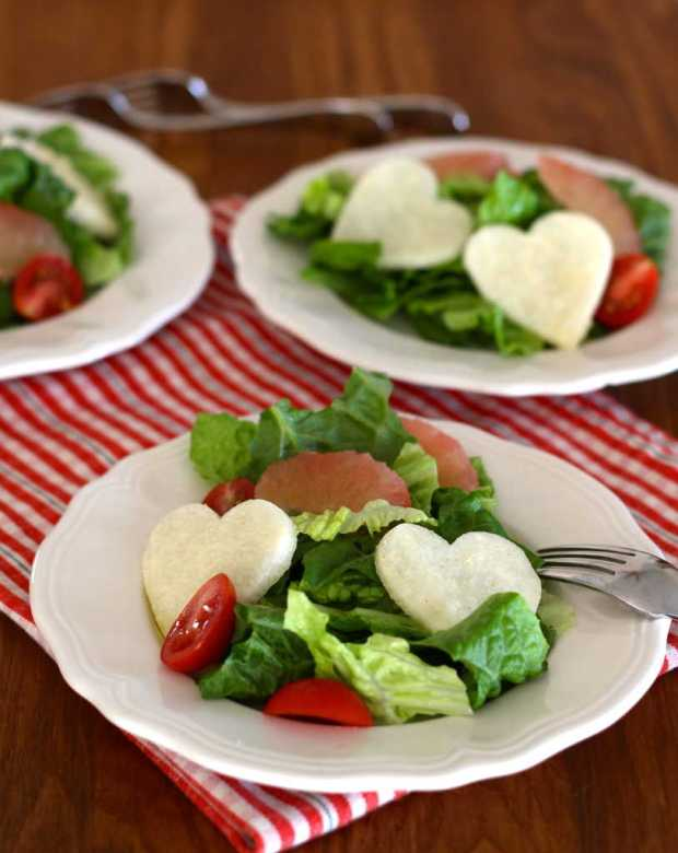 Salad with Jicama and Cumin Lime Dressing | Letty's Kitchen