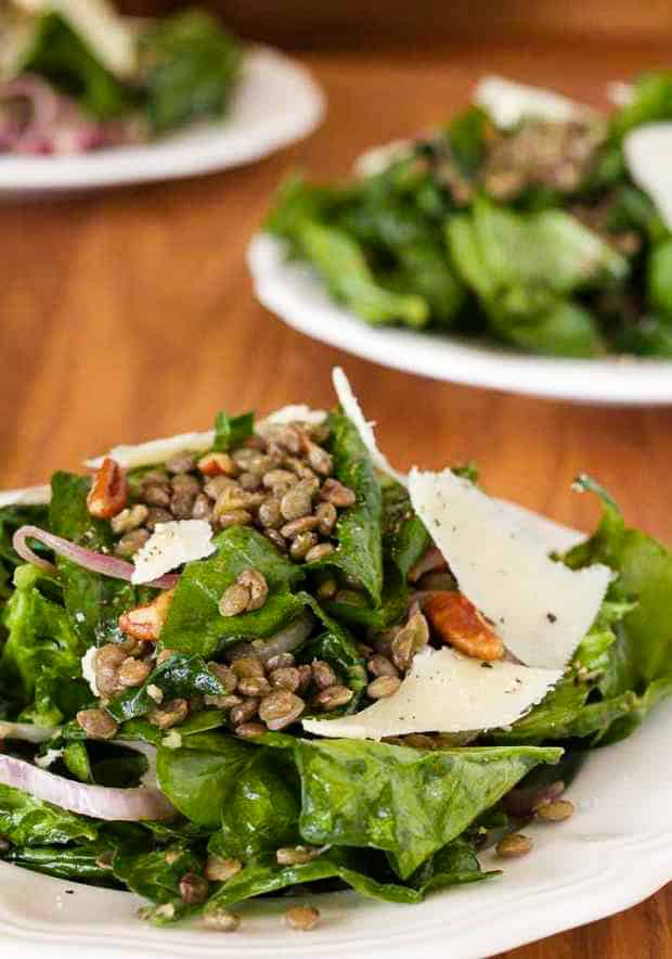 Wilted Apinach and Green Lentil Salad | Letty's Kitchen