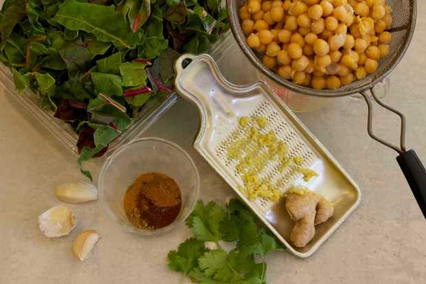 Chard Marries Chickpeas
