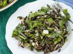 Salad of Wild Rice, Pea Shoots and Jicama featured