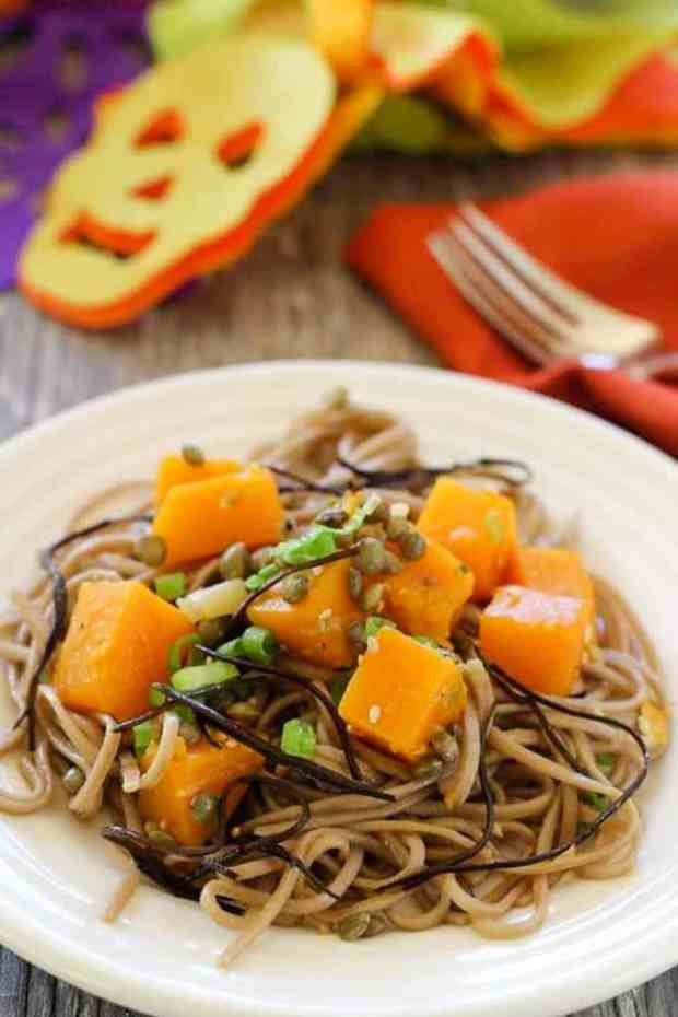 Butternut Squash and Soba Noodles for Pinterest
