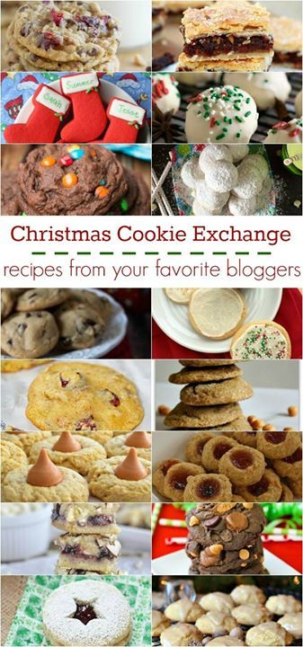 Christmas cookie recipe collage