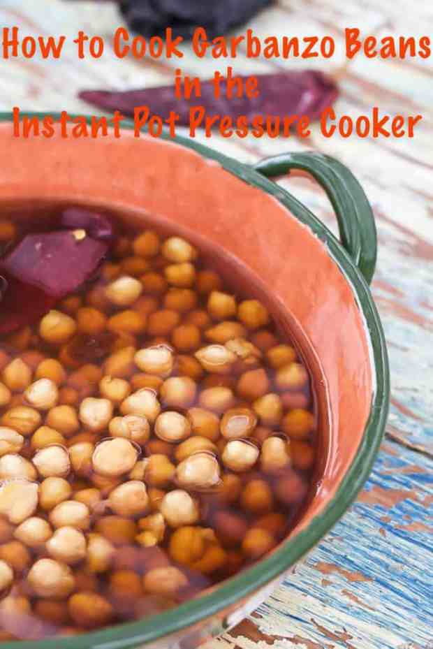 How to Cook Garbanzo Beans in a Pressure Cooker (Instant Pot.) Directions for cooking soaked and unsoaked beans from scratch. #instantpot #garbanzobeans #recipes #howto #chickpeas
